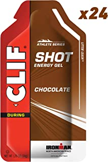 Clif Shot - Energy Gels - Chocolate - (1.2 Ounce Packet, 24 Count) (Packaging May Vary)