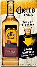 Jose Cuervo Geschenkset - Tequila Reposado Especial 0,7l 700ml 38% Vol  Shotspin Patryspiel  Shotglas -Enthält Sulfite