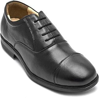 tZaro Genuine Leather Black Shoes - Mr Banker [Grain Finish], ENBLK2411GN