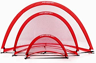 PowerNet Popup Soccer Goals Portable Net   2 Goals+1 Carrying Bag   Durable, Lightweight Frame   Quick Setup Easy Folding Storage   Short Small Side Game   Technical Practice Net Shot Accuracy   Kids