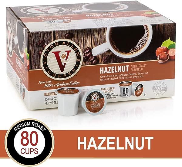 Hazelnut For K Cup Keurig 2 0 Brewers 80 Count Victor Allen S Coffee Medium Roast Single Serve Coffee Pods