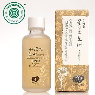 Whamisa Organic Flowers Skin Toner - Original Toner for Face & Body | Natural Hydrating Moisturizer for Dry Sensitive Skin | with Natural Fermented Ingredients 4.05 fl.oz. | EWG Verified