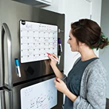 Magnetic Dry Erase Calendar for Fridge: with Stain Resistant Technology - 19x13