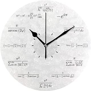 壁掛け時計 アクリル 雑貨 かけ時計 壁掛時計 掛け時計 時計 無音時計 連続秒針 静音 オシャレ 数学の柱