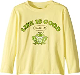 Life is Toadally Good Crusher T-Shirt Long Sleeve (Toddler)