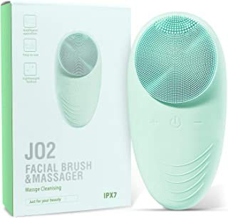 TOPNaturePlus Facial Cleansing Brush, Waterproof Face Brush, Face Portable Scrubber Massager for Blackhead Removing, Skin ...