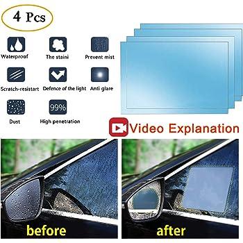 2PCS Car Rearview Mirror Protective Film Anti Fog Window Clear Rainproof 2018