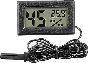 ACAMPTAR 5Pcs TermóMetro HigróMetro,Pantalla LCD Digital Temperatura Ambiente e HigróMetro con Sonda para Humidificador Oficina en Casa Humidificador Coche Invernadero HabitacióN para BebéS