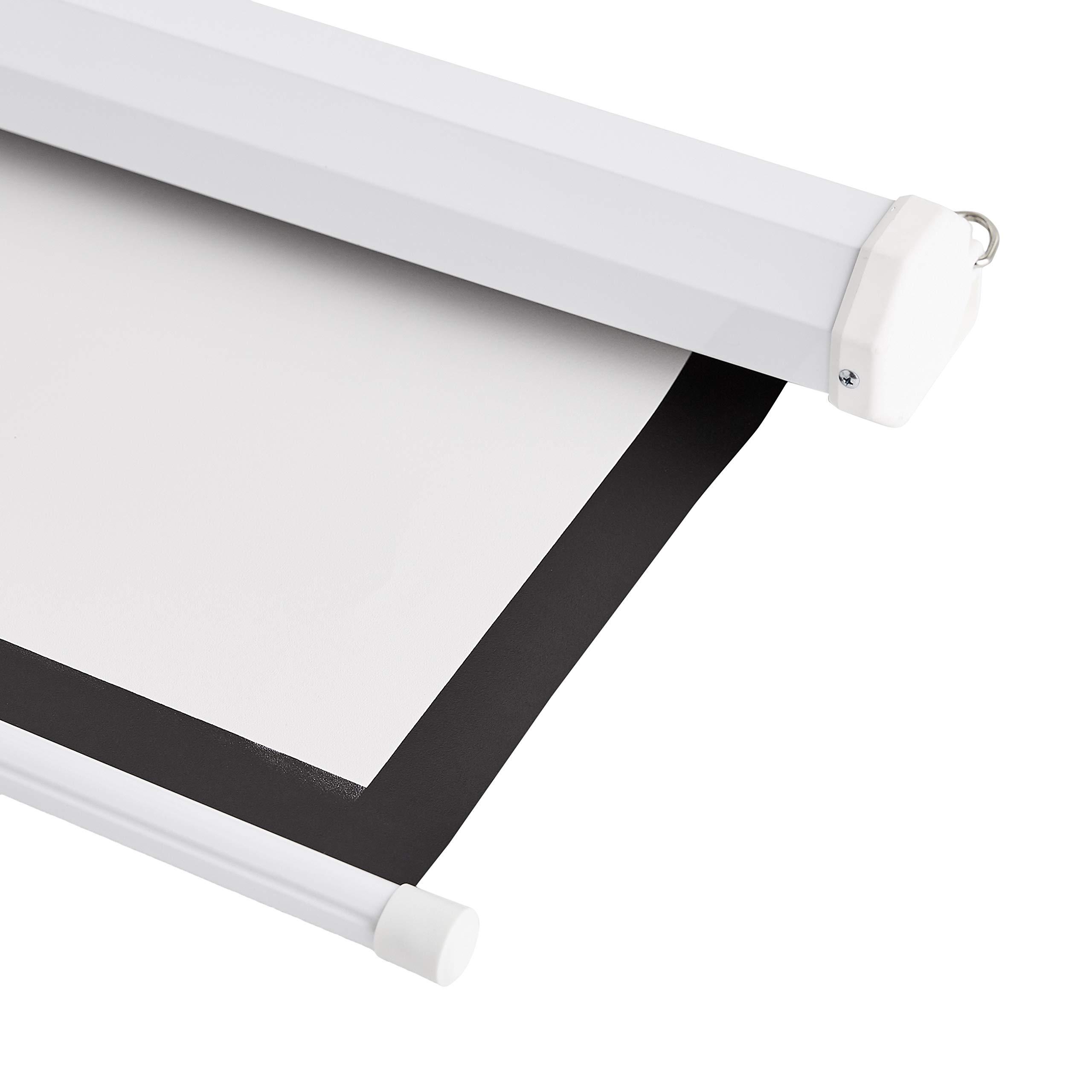 AmazonBasics - Pantalla de proyector desplegable manualmente de ...