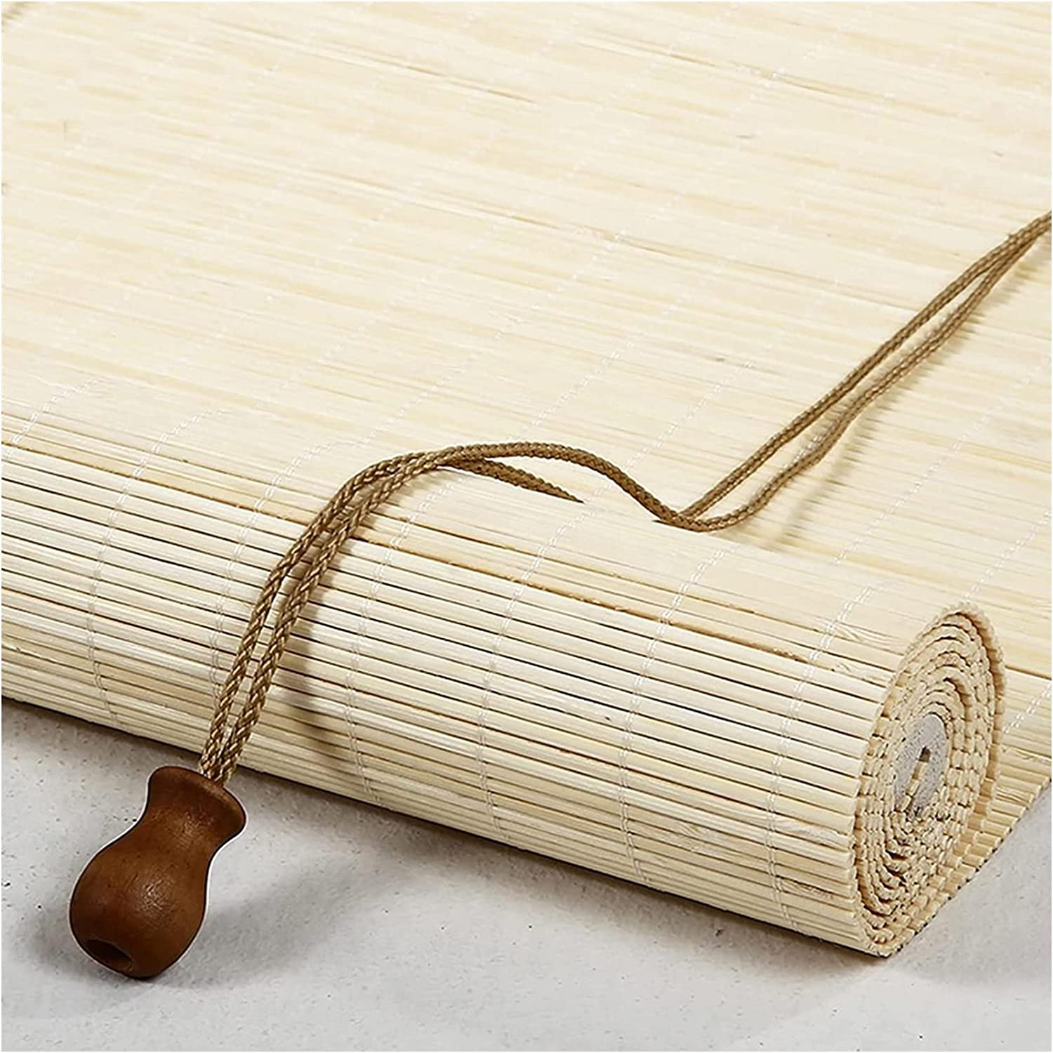 Bamboo Blinds for security Windows Hand Large-scale sale Woven Retro Home Blind Up B Roll