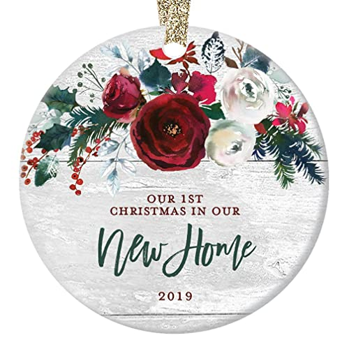 New Home Christmas Ornament 2019 Modern Farmhouse First In Our House Gift For
