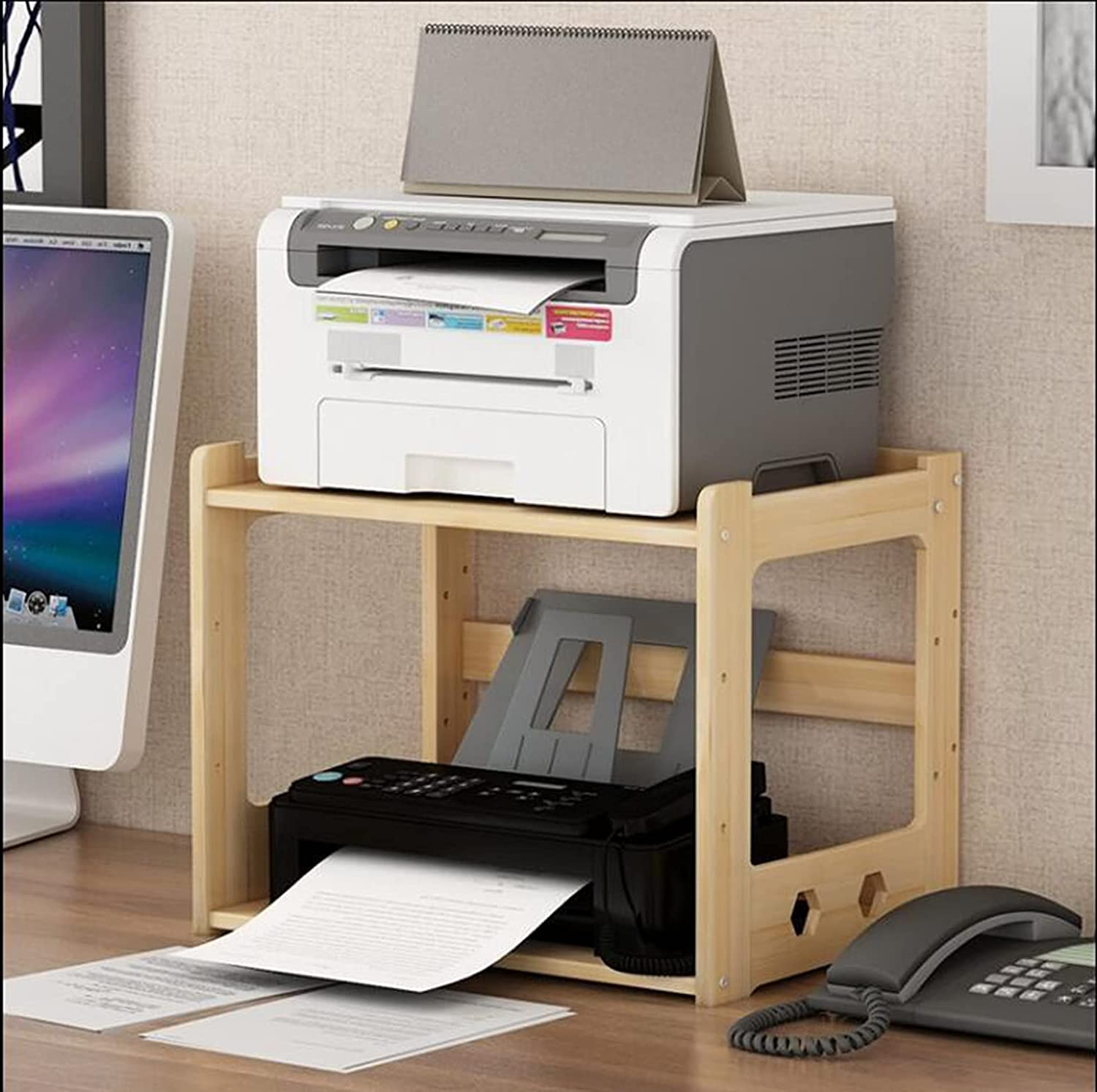 Super special price Cajolg Modern Simple Multi Layer Wooden Shredder Stand Rack Houston Mall Copy