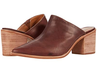 KAANAS Sagrantino Pointy Distressed Leather Mule (Brown) Women
