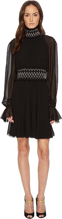 Versace Collection - Long Sleeve Pergamena Dress