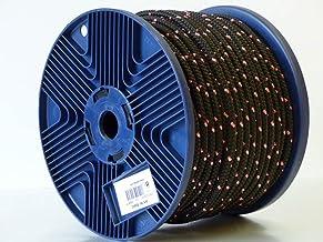 pewag 89462 polyester touw zeer sterk gevlochten, 8 mm zwart/roze