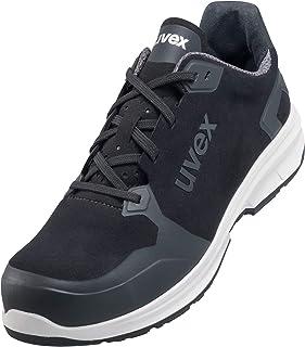 Uvex 1 Sport - Chaussures de Travail pour Hommes S3 SRC ESD - Baskets Légères de Sécurité avec Embout - Velours - Noir