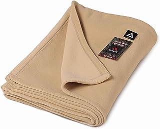 毛布 軽量 日本製 シングル ポーラテック フリース 200 保温性抜群 電気毛布 の代わり 洗濯できる ベージュ