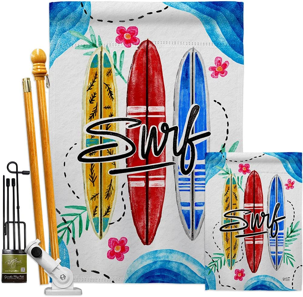 Be super welcome Angeleno Heritage Beach Surf Garden Fort Worth Mall House Trop Coastal Flags Kit