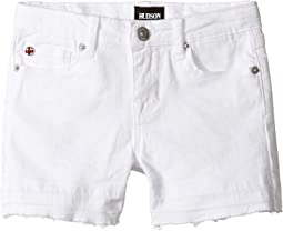 "3"" Fray Shorts in White (Toddler/Little Kids)"