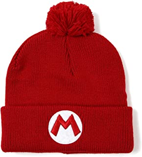 Super Mario Bros Mario Red Knit Hat Beanie