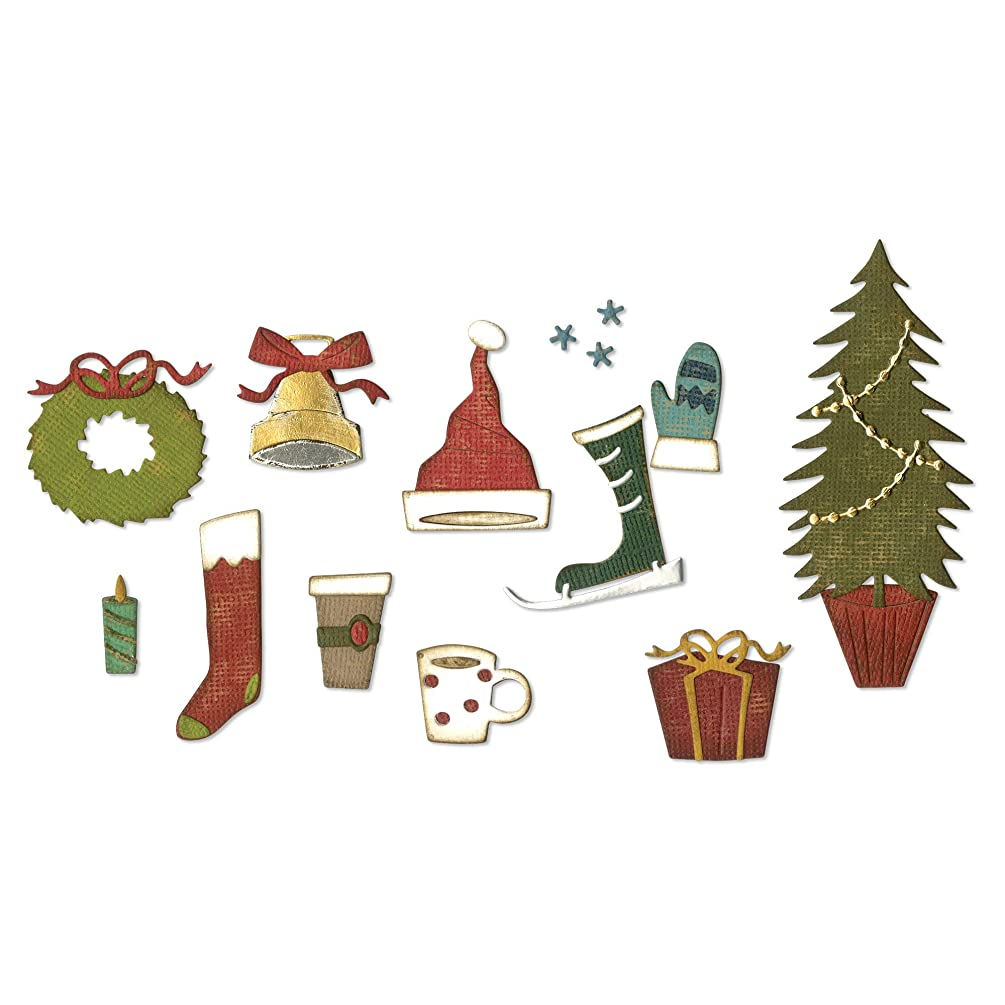Sizzix 664191 Festive Things by Tim Holtz Dies, us:one Size, Multicolor