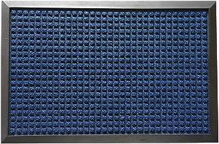 "(Blue Door Mat) - Rubber-Cal 03-199-ZWBL ""Nottingham"" Entrance Rug Mat, 46cm x 80cm , Blue"