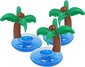 Inflatable Drink Holder 3 Pack Drink Pool Floats Cup Holders for Summer Pool Party, Variety Shape to Choose