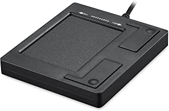 """Perixx PERIPAD-501 Professional Wired USB Touchpad - Black - 3.39""""X2.95""""X0.43"""" Dimension - Multi-Touch Support for Windows 7, 8, and 10"""
