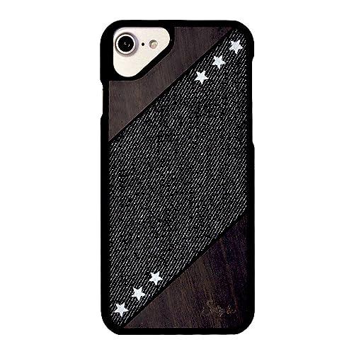 826f5d0e21 iPhone8 iPhoneケース ハードケース [薄型/デニム/木目] S-tyle ブラック