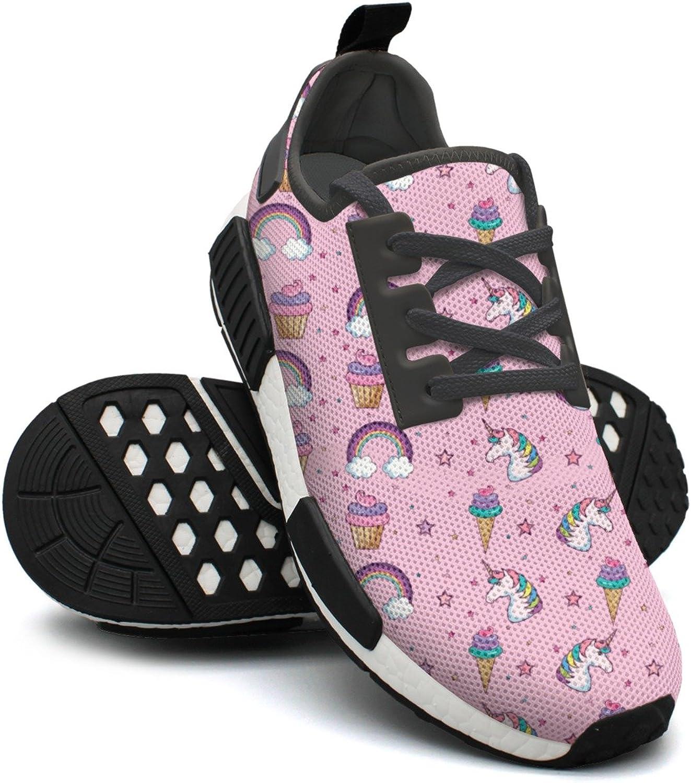 Pink Kawaii Star Ice Cream Rainbow Unicorn shoes Sport Jogging shoes for Women NMD