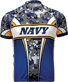 Primal Wear Navy Camo Cycling Jersey Men`s Short Sleeve USN