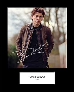 Photo encadr/ée sign/ée Tom Holland 1 MARVEL SPIDERMAN HOMECOMING A5