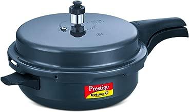 TTK Prestige 20354 Deluxe Plus Pressure Cooker, Senior, Dark Grey