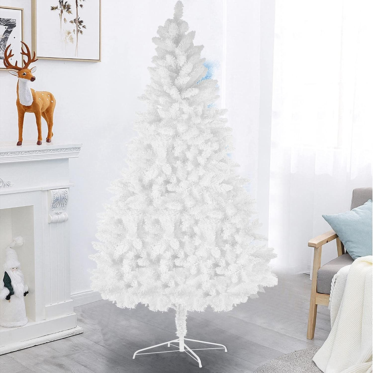 CRX Artificial Christmas Pine - Tree White Max 68% OFF Be super welcome