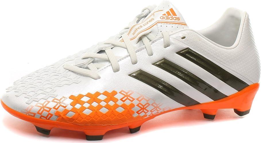 Adidas Prougeator LZ Lethal Zone TRX FG Enfants - Chaussures de Foot Blanc Vert Zeste Solaire