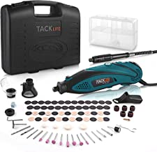 TACKLIFE Rotary Tool Kit Variable Speed with Flex shaft, 80 Accessories and 4 Attachments and Carrying Case, Multi-functio...