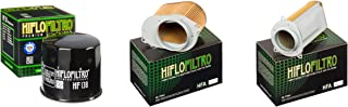 Both Air Filters and Oil Filter Kit for SUZUKI VS800 GL-N,P,R,S,T,V,W,X,Y,K1-K9 Intruder S50 92-09 HIFLO FILTRO