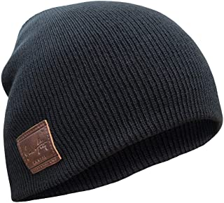 48-54 Longbeanie m 08 Single piece cap Beanie black grey size approx