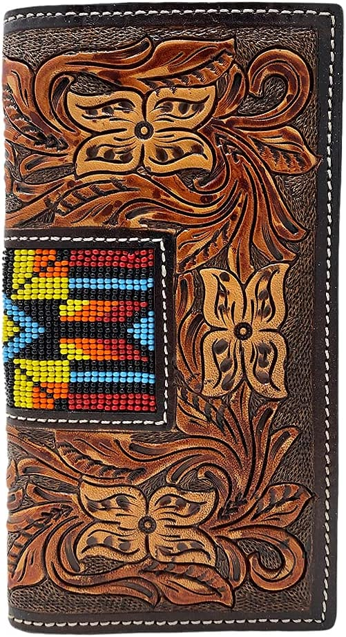 TWISTED X Men's Rodeo Hand Painted Earth Toned Beaded Wallet
