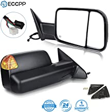 ECCPP Towing Mirrors Replacement fit for 11-16 Ram Truck 2009-2010 Dodge Ram Truck Power Heated LED Turn Signal with Puddle Light Pair Set Mirrors