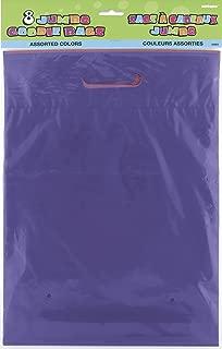 Unique Party- Paquete de 8 bolsas de regalo grande, surtido colores, 12 (5903)