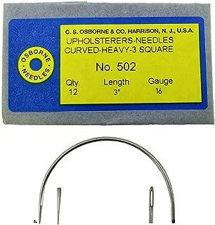 C.S. Osborne 12 Pk. Curved 3 Square Point Needles Heavy #502-3 (Size 3