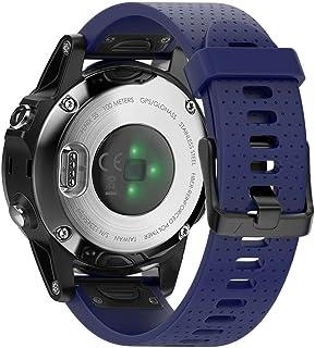 BarRan Silicone Watchband for Fenix 5S، من السيليكون الناعم سهل التركيب بسوار معصم بديل ل Fenix 5S، Fenix 5S Plus Smart Wa...