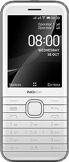 "Nokia 8000 4G Dual Sim phone, 2.8"" screen, 3D curved keymat, long-lasting battery life, durable gemstone-inspired design, ..."