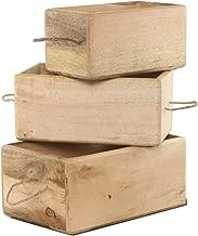SAVON Storage Bin Container Box Wood Kitchen Bathroom Organizer Wooden Holder Rustic
