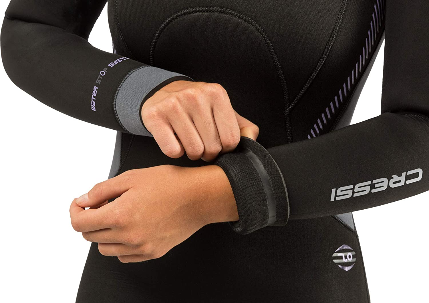 Cressi Mens /& Ladies Full Wetsuit Back-Zip for Scuba Diving /& Water Activities Fast 7mm designed in Italy