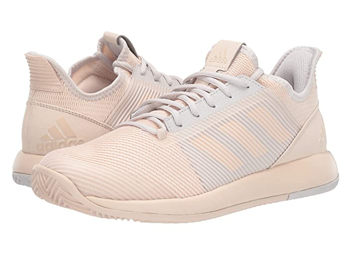 adidas  adizero Defiant Bounce 2 (Linen/Linen/Grey One F17) Womens Tennis Shoes