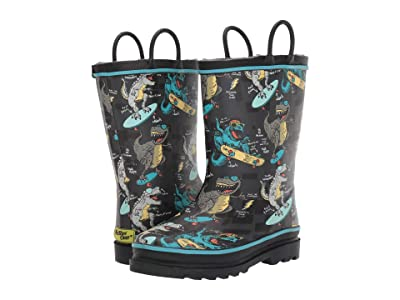 Western Chief Kids Rad Rex Rain Boot (Toddler/Little Kid) (Charcoal) Boys Shoes