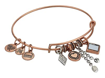 Alex and Ani Love Cluster Bangle, Two-Tone (Rafaelian Rose Gold) Bracelet