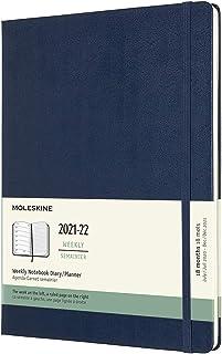 モレスキン 手帳 2021年7月始まり 18カ月 ウィークリーダイアリー ハードカバー XLサイズ サファイアブルー DHB2018WN4Y22
